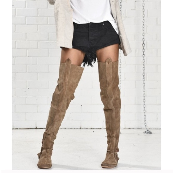 f9fc837670 One Teaspoon Shoes | Free People Tall Moccasin Boots | Poshmark